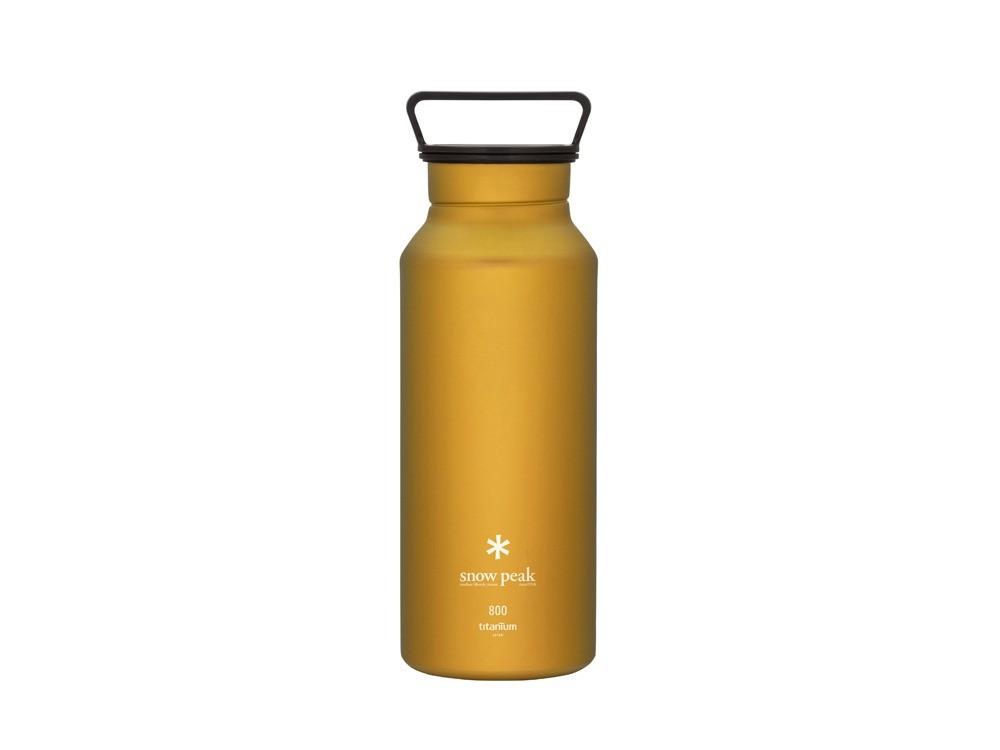 snowpeak 鈦金屬瓶800黃色 / TW-800-YL