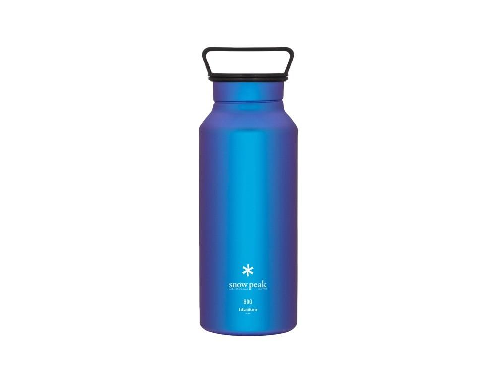 snowpeak 鈦金屬瓶800藍色 / TW-800-BL