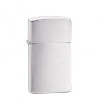Zippo Slim® Brushed Chrome 防風打火機 纖巧沙子-拉絲鍍鉻 1600 買就送原廠專用油