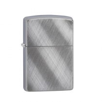Zippo Diagonal Weave 防風打火機 斜紋編織-斜布紋拉絲鍍鉻 28182 買就送原廠專用油