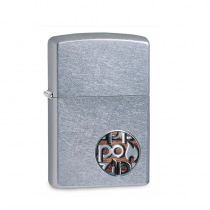 Zippo Zippo Button Logo 防風打火機 Stree Chrome/Color Image 29872 買就送原廠專用油
