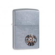 Zippo Zippo Button Logo 防風打火機 Stree Chrome/Color Image 29872 買就送原廠專用油