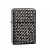 Zippo Hexagon Design 防風打火機 Armor Black Ice-Deep Carve 49021 買就送原廠專用油