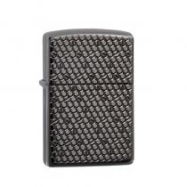 Zippo Hexagon Design 防風打火機 Armor Black Ice-Deep Carve 49021 買就送原廠專用油