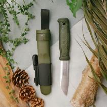 MORAKNIV Kansbol 不鏽鋼直刀(含求生配件) 軍綠 Kansbol with Survival Kit /13912