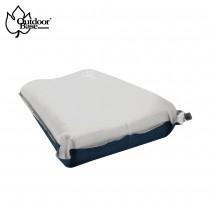 【Outdoorbase】3D舒壓自動充氣枕頭 月光白 / OB-22987