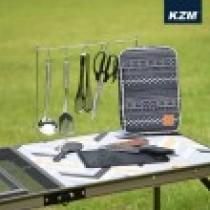 KAZMI KZM 彩繪民族風廚房用具8件組-黑色 / 438858878