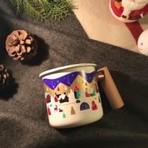 2020聖誕感溫變色杯 – 400ml 木柄琺瑯杯 / TY-23739