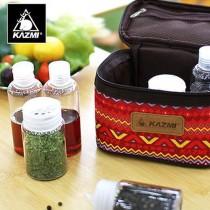 KAZMI 經典民族風調味料收納袋(S)/438850094-紅色