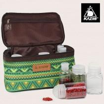 KAZMI 經典民族風調味料收納袋(L)/438850063-綠色