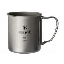 Snow Peak 鈦金屬單層杯-450折疊把 / MG-143