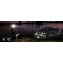 MH4 專業伸縮調焦頭燈 綠色/BU-500949