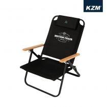 KAZMI KZM 素面木手把可調低座折疊椅(黑色) / 438859714