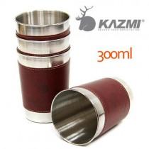 KAZMI 仿皮革不鏽鋼杯4入組-300ml/K3T3K004