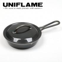UNIFLAME 黑皮煎鍋附蓋 / U661024